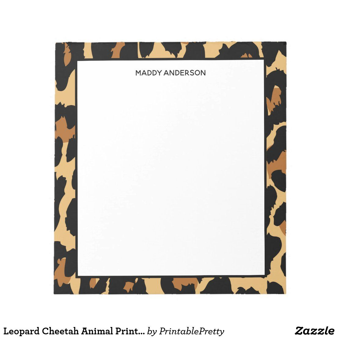 flat notecards monogrammed stationery set cheetah print stationery Animal print personalized notecards leopard print note cards