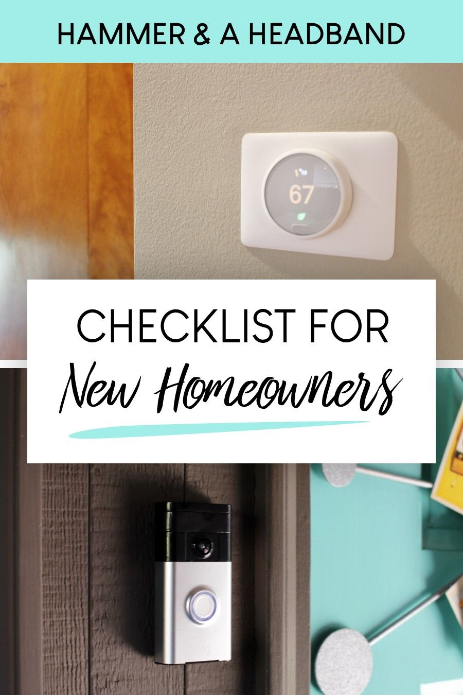 You might have thought getting a mortgage had a lot of hoops, but there are still several more tasks you need to complete to get your new home ready for living. This part of the move-in process doesn't have to be so confusing, though. Here's a complete checklist of all those little tasks new homeowners need to do, from turning on utilities to adding safety features and increasing efficiency. #newhome #homeownership
