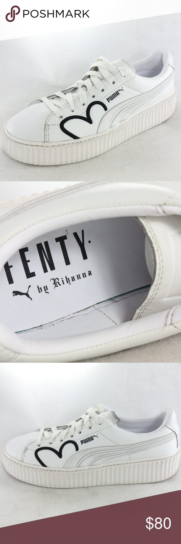 competitive price 4ab52 7dd2d RARE Puma x Fenty Clara Lionel Creeper White Shoes RARE Puma ...