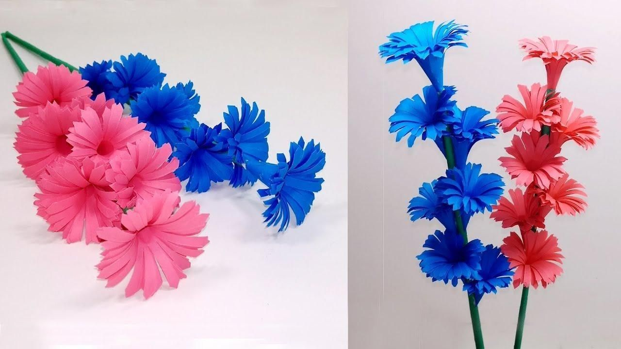 Beautiful Ideas Of The Flower Making With Craft Paper Paper