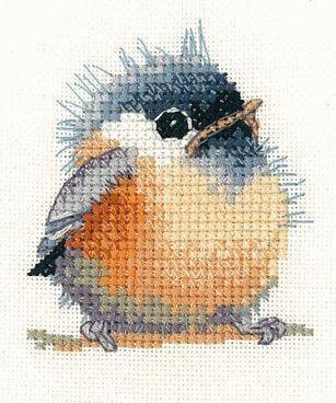 Photo of Chickadee Cross stitch kit – #Chickadee #Cross stitch kit #birdfabric Chickade …