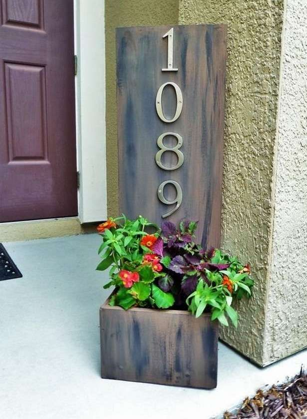 Creative house number ideas also in outside front pinterest rh