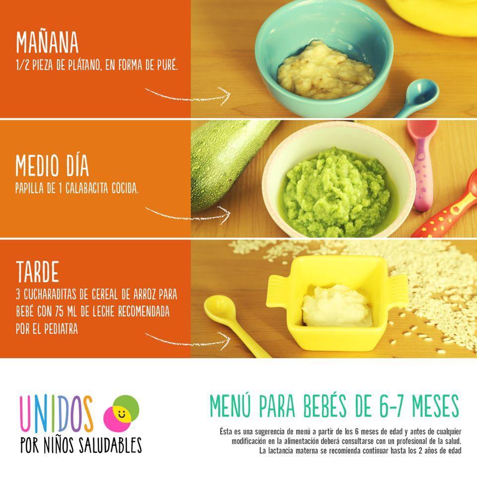 Plan Refrigerio Saludable Comida Bebe 7 Meses Comida Bebe 6 Meses Alimentacion Bebe