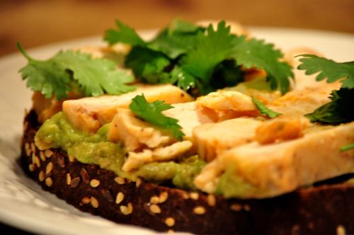 Sandwich au tofu, guacamole et cresson #sandwich #endive #guacamole #snacking