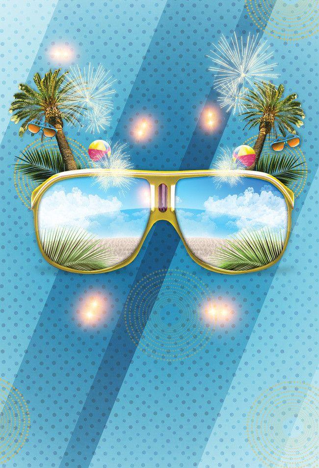 Photo of Sommer Beach Party Poster Bakgrunnsmateriale