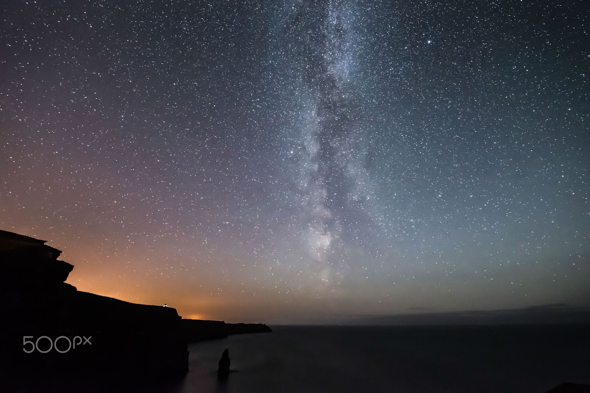 Milky Way over Cliffs of Moher  - It was extremly cold