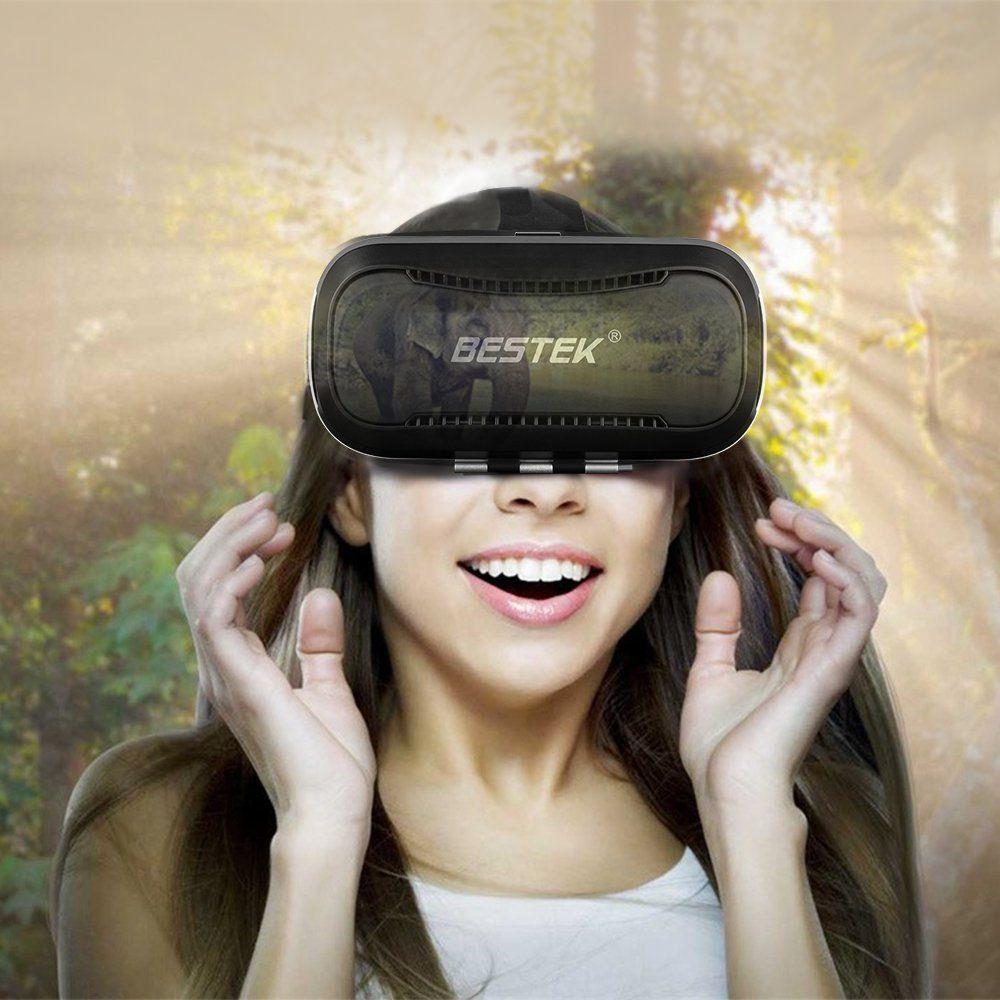 Amazon Com Vr Glasses Bestek 3d Virtual Reality Vr Headset Adjust Cardboard Video Movie Game Box Adjustable Lens For Ipho Vr Glasses Gadget Shop Buy Gadgets