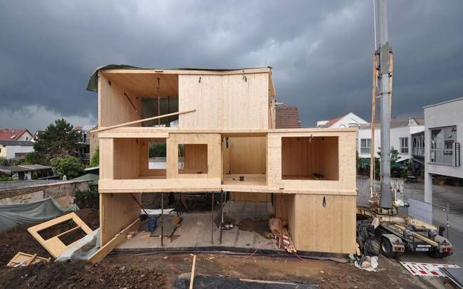 Gorgeous little office building is built of Cross Laminated Timber