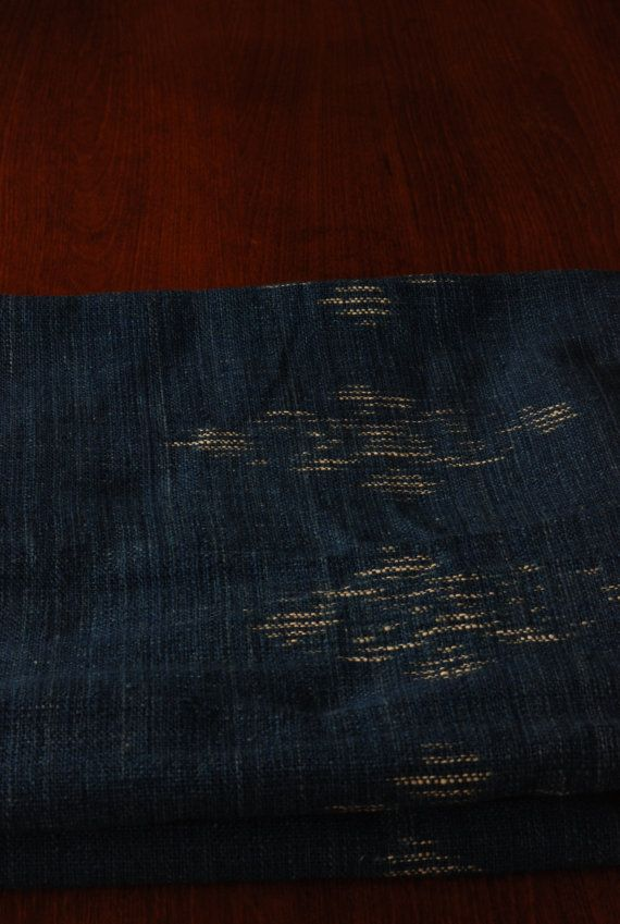 Indigo blue Ikat fabric