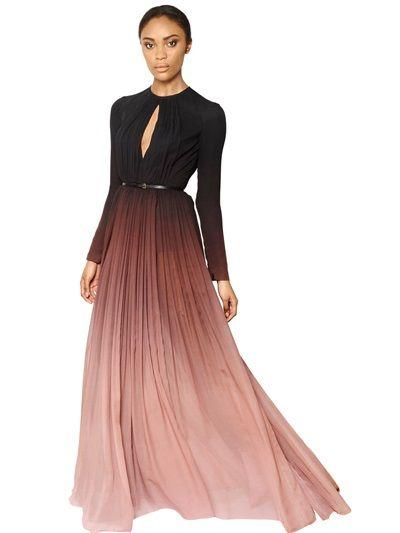 d850b96b7a ELIE SAAB GRADIENT SILK GEORGETTE DRESS | Dresses - Gowns in 2019 ...