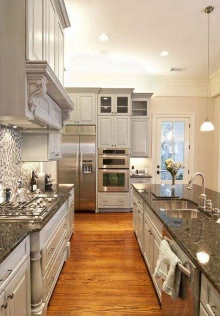 42+ Lovely Gray Kitchen Cabinets Design Ideas #darkkitchencabinets