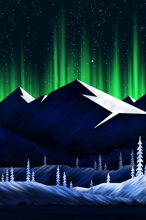 Northern Lights On Behance Northern Lights Design Northern Lights Tattoo Northern Lights Art