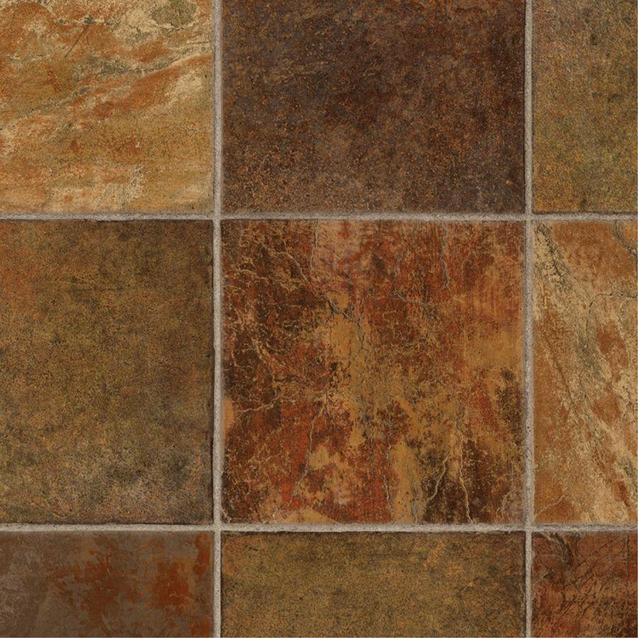 Shop Tarkett 12-ft W Dark Rust Tile Low-Gloss Finish Sheet
