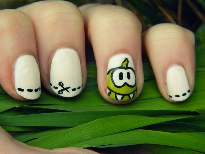 Uñas monstruito | uñas decoradas | Pinterest | Uña decoradas