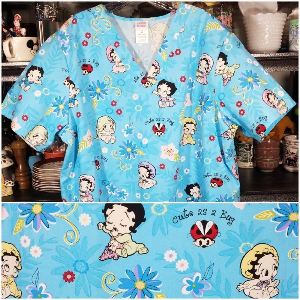 1679f23cb52 XL Betty boop medical scrub top v neck work uniform #babyboop ...