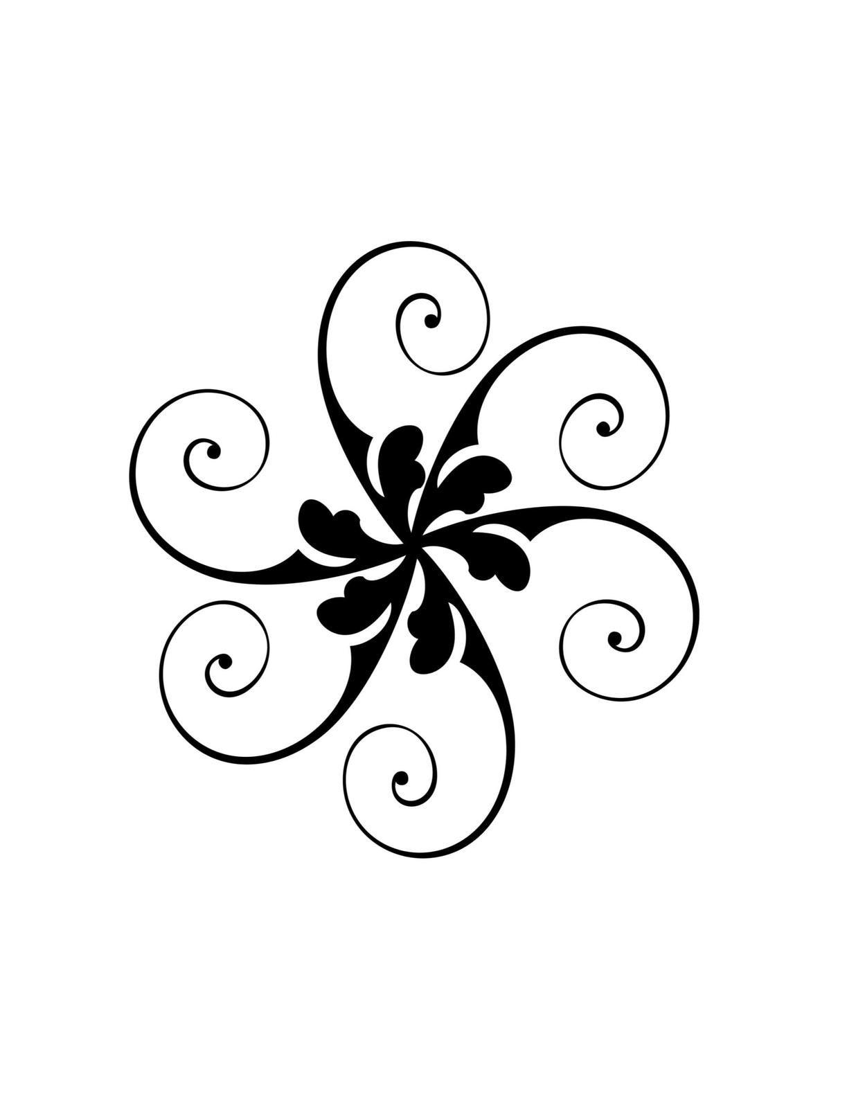 Black Flower Digital Download Clipart Artclip