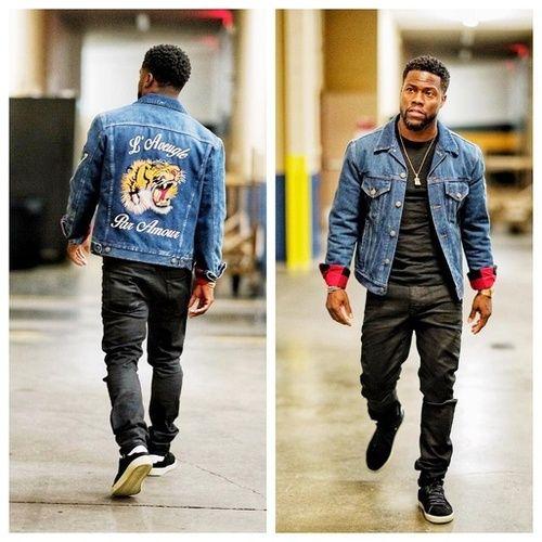 Gucci tiger-embroidered denim jacket #kevinhart #mensfashion #menswear  #menstyle#mensstyle