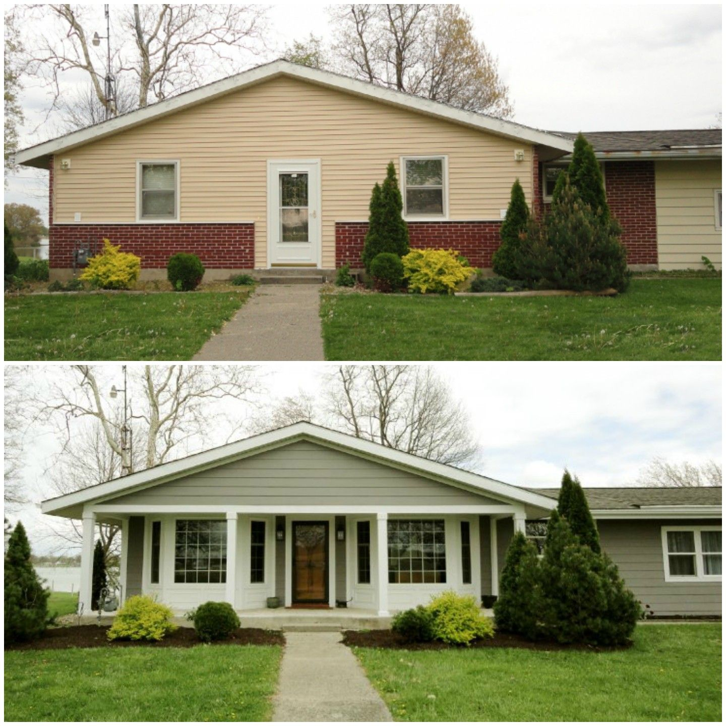 Small Porch Designs Can Have Massive Appeal: Simple Style Makeover To A Home's Exterior Makes A Huge