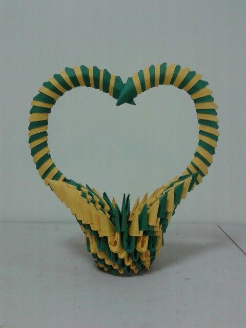 3d Origami Heart Basket