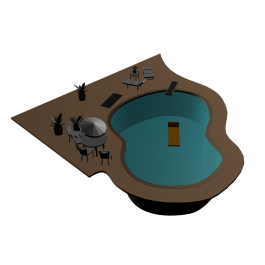 Swimming Pool Design 2D And 3D Models