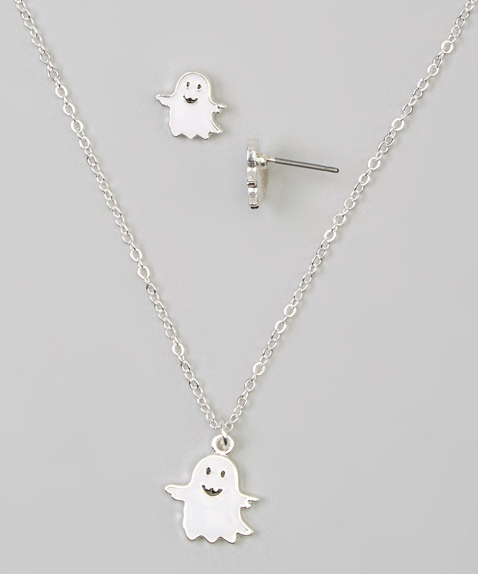 Dm merchandising ghost necklace u earrings set