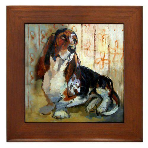 Decorative Tile Frames Vintage Basset Hound Framed Tile Cafepress Httpwwwamazon