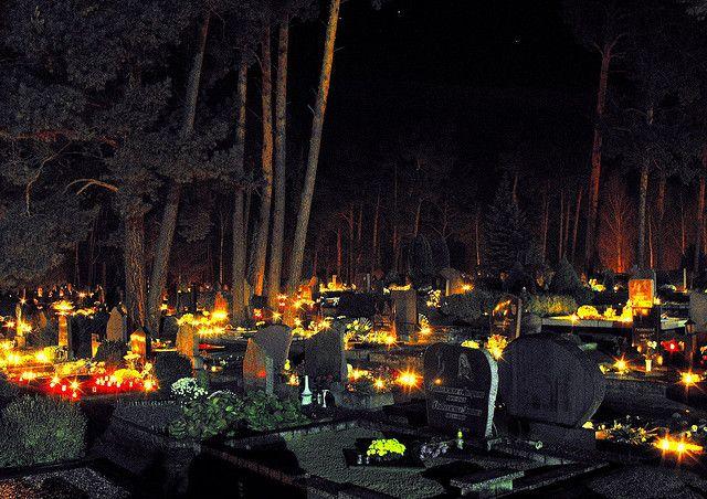 Día de los muertos. El cementerio