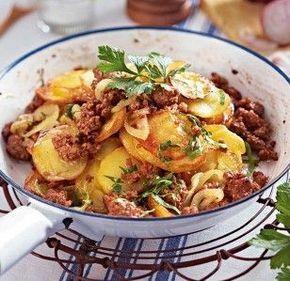 Rezept Kartoffel Hackfleisch kartoffel hack pfanne rezept kartoffelhackpfanne