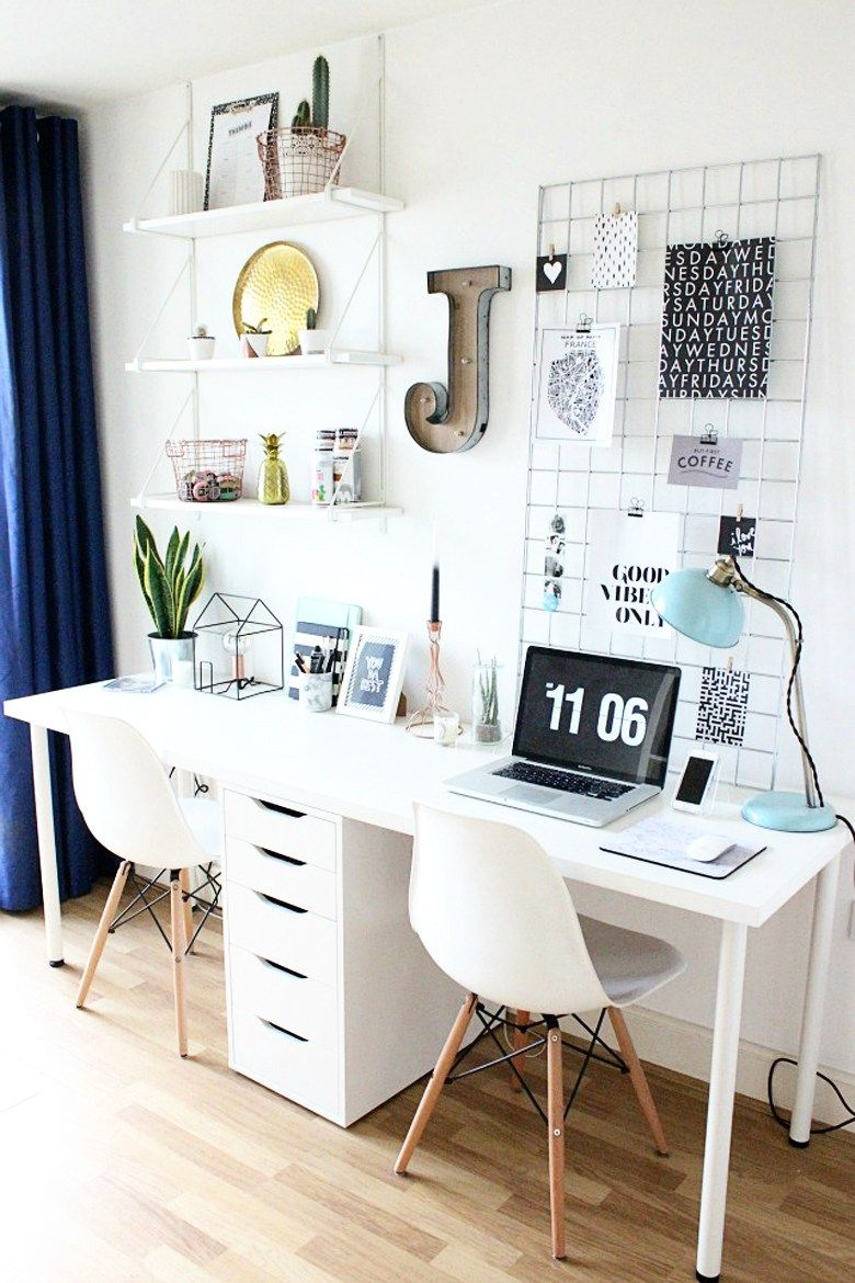 Mini Home Tour: Pastel Thrifted Home Office + Craft Room  Bre Pea