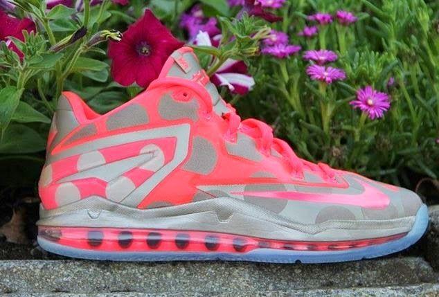 scarpe da ginnastica tossicodipendente: nike lebron 11 bassa polka dot campione scarpa