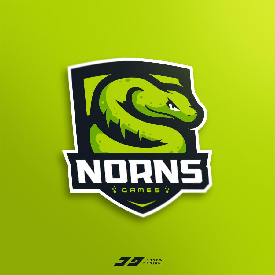 Nornsgames Snake Mascot Logo Snake Logo Sports Logo Design Sports Team Logos