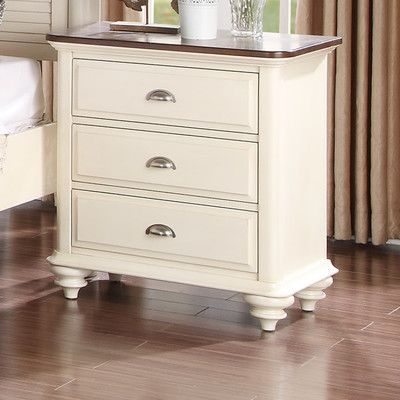 Hobe Sound 3 Drawer Nightstand SEHO2526 26731037 | Beachcrest Home Nightstands Reviews