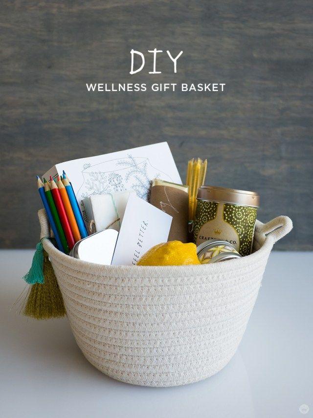 Diy Wellness Gift Basket Think Make Share Wellness Gifts Homemade Gift Baskets Diy Wellness