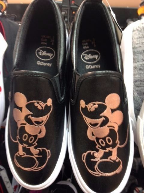 3c2a41f05e9b Primark Ladies DISNEY MICKEY MOUSE Slip on Trainers Sneakers Shoes ...