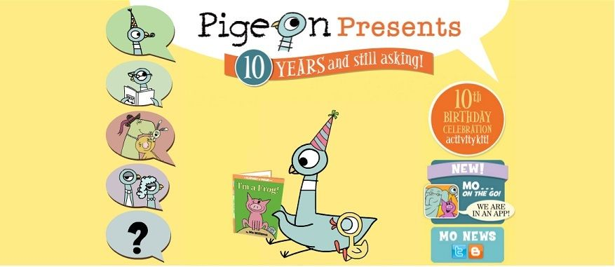 Pigeon Presents website has coloring pages, games and more featuring - new mo willems coloring pages elephant and piggie