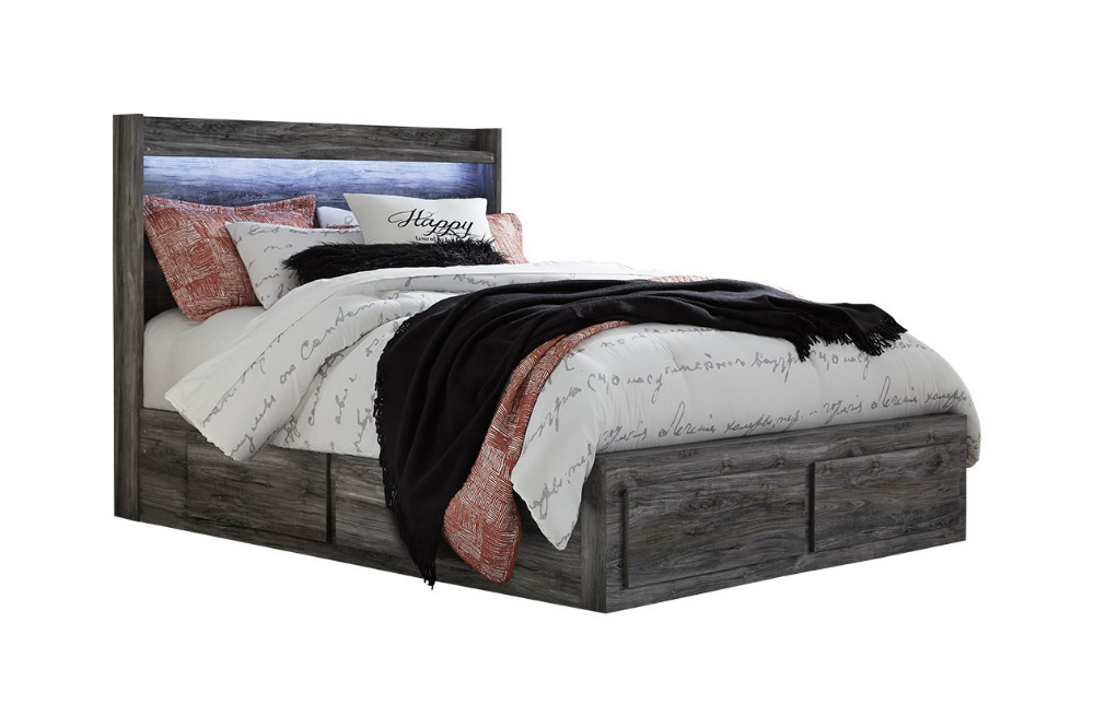 Baystorm Queen Panel Bed with 4 Storage Drawers Queen