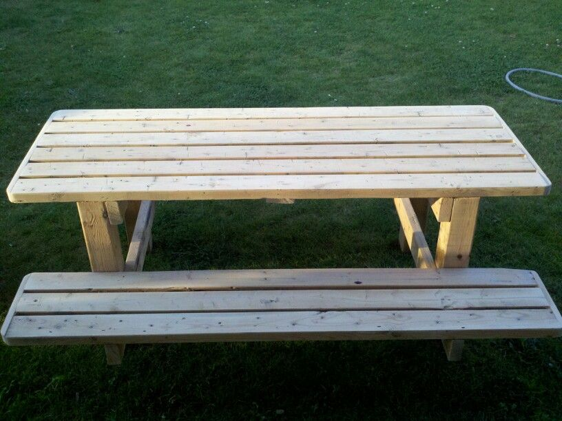 Build the kids a picnic table out of reclaimed wood.
