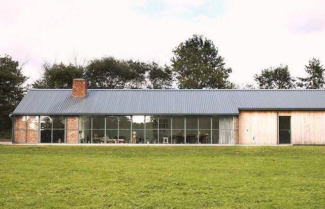 stable acre barnhouse barn house farm exterior former stable brick metal roof