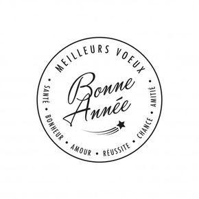 BONNE ANNEE - Tampon encreur pour souhaiter vos voeux de fin d'année