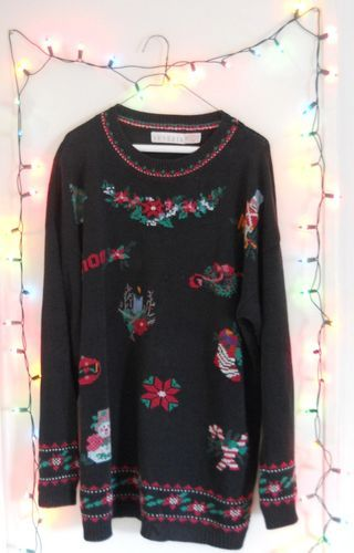 Mens 3x Ugly Christmas Sweater.Ugly Christmas Sweater Women 3x Men Xl 2x Vintage 80s Shoulder Pads