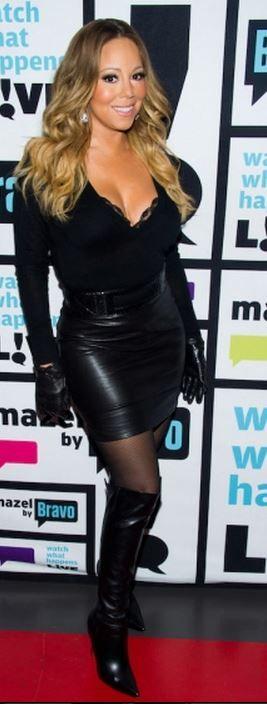 Mariah carey leather gloves
