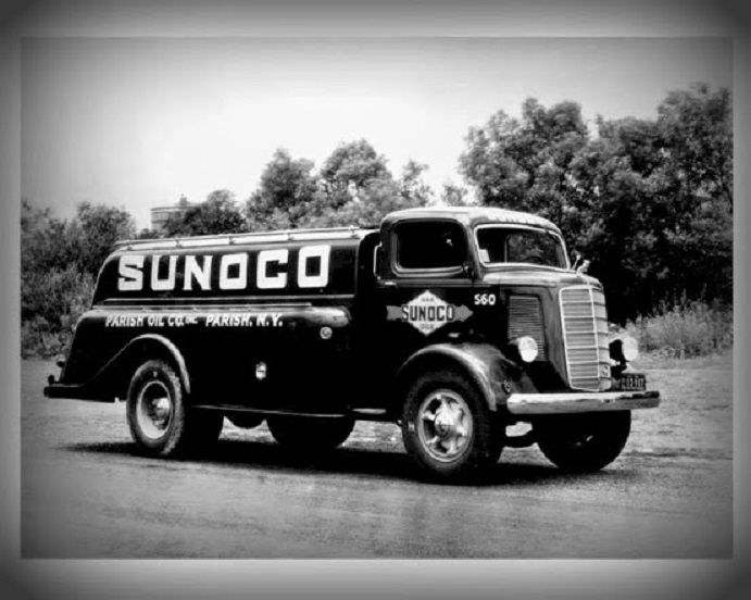 Mack Sunoco Gasoline Tanker Delivery Truck Circa Late 1930 S