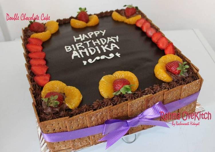 Resep Chocolate Cappuccino Cake Layered With Chocolate Pudding Oleh Rahma Ovekitch Resep Kue Lapis Cokelat Makanan