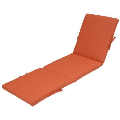 Highland Dunes Outdoor Chaise Lounge Cushion Fabric Coral