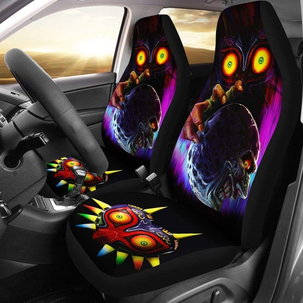 Legend Of Zelda Majoras Mask Rom Car Seat Covers 2 Carseat Cover Car Seats Seat Covers