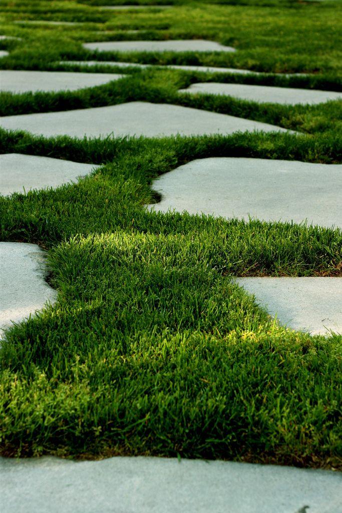 {112} Grass around concrete | Garden paving, Garden paths ... on Backyard Ideas Concrete And Grass id=55791