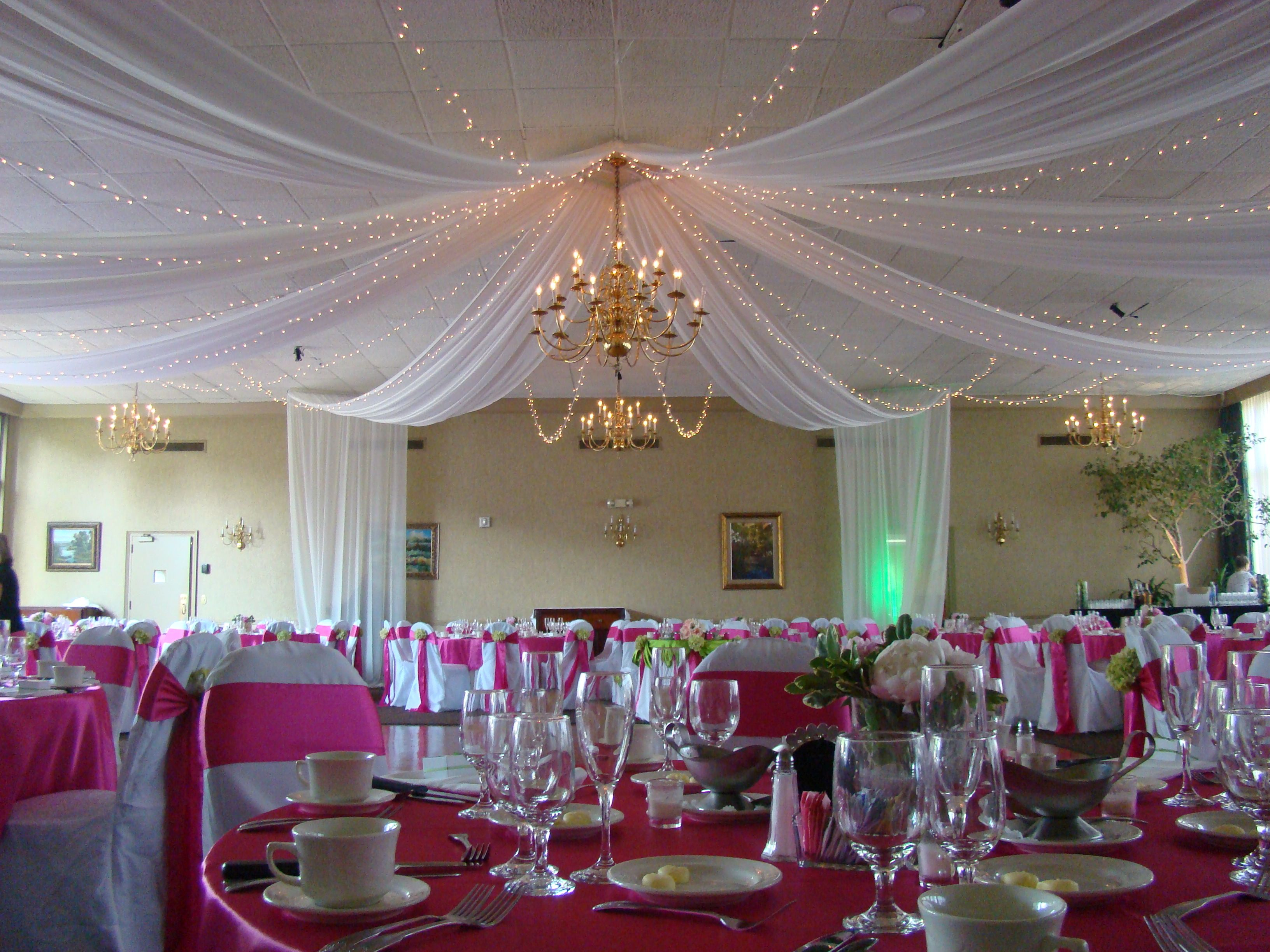 8 point full room ceiling canopy with mini-lights by Events Plus at the University & 8 point full room ceiling canopy with mini-lights by Events Plus ...