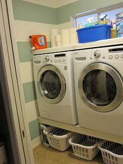 Park home reno back patio ideas and patio progress washer i honestly just thought about doing this myself the other day and look i found a post on building your own washer and dryer platform with storage solutioingenieria Gallery