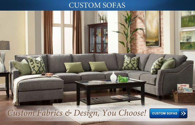 Custom Sectional Sofa   Choose Your Fabric U0026 Design!   Cheap Furniture