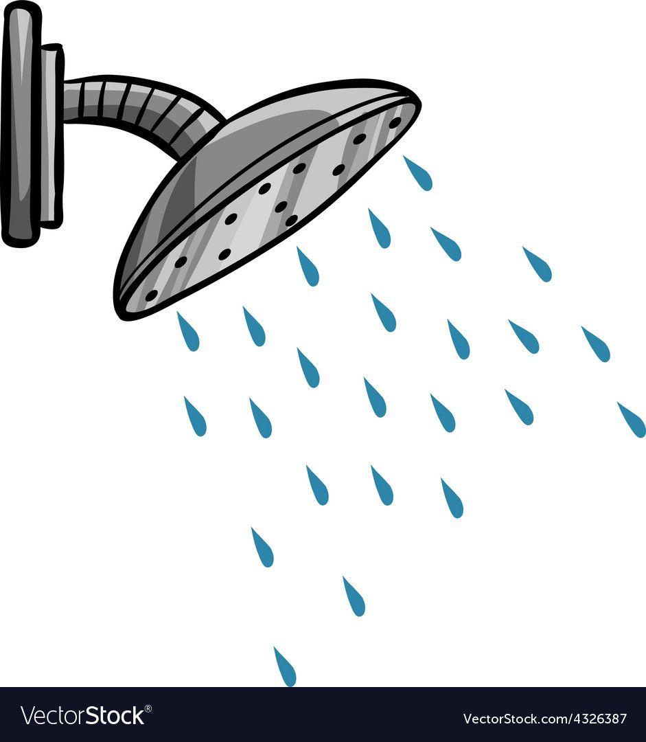 Shower Vector Image On Vectorstock In 2020 Cartoon Pics Image